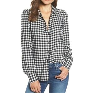 Anthropologie Paige Buffalo Check Button Up shirt